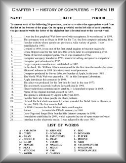 Printables Computer Science Worksheets computer science worksheets imperialdesignstudio hardware 15 software the internet computer